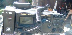 FT-897D frequency and S-meter during contact with VK7KC