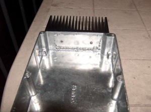 Heatsink and empty enclosure (side view)