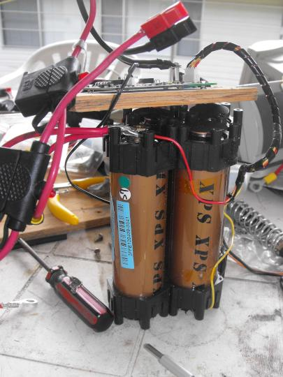 My 13.2V battery pack, out of case